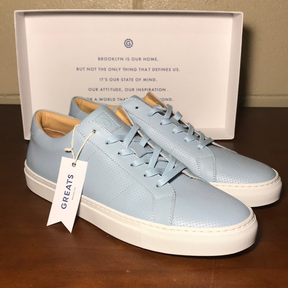 Greats Royale Light Blue Perforated